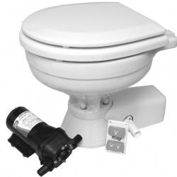 "Jabsco ""quiet flush"" compact el-toilet 12v ferskvand"