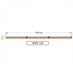 DEK-KING 3 Plank 150mm Caulked - 10 mtr.