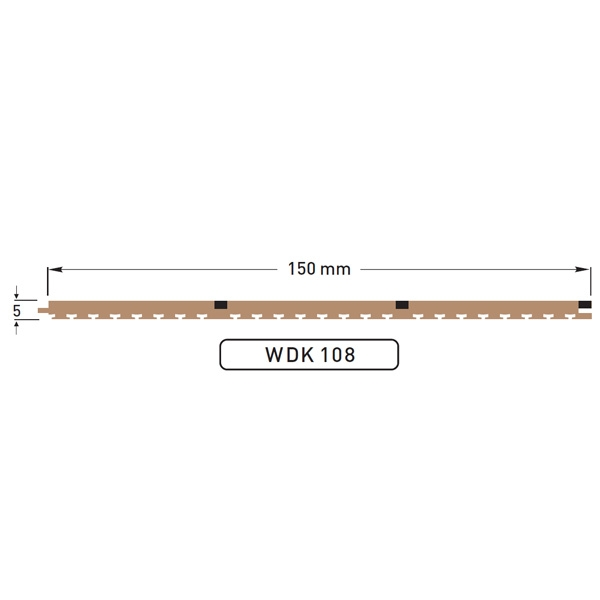 DEK-KING 3 Plank 150mm Caulked - 10 mtr.