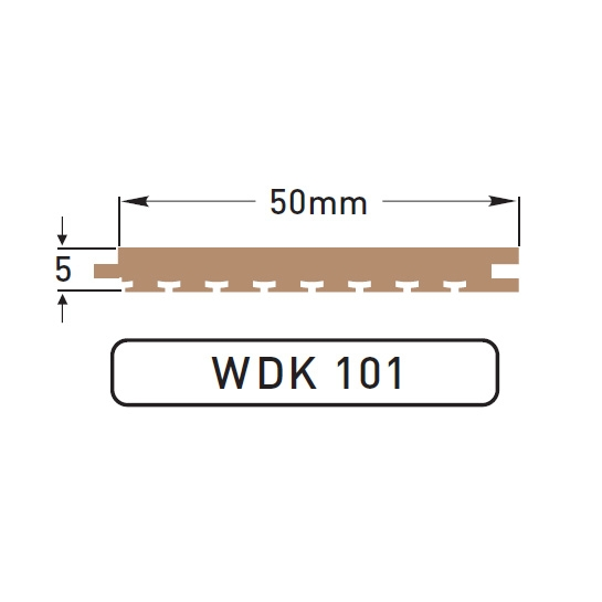 DEK-KING - 50mm Plain - 10 mtr