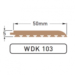 DEK-KING - 50mm Plain edge - 10 mtr