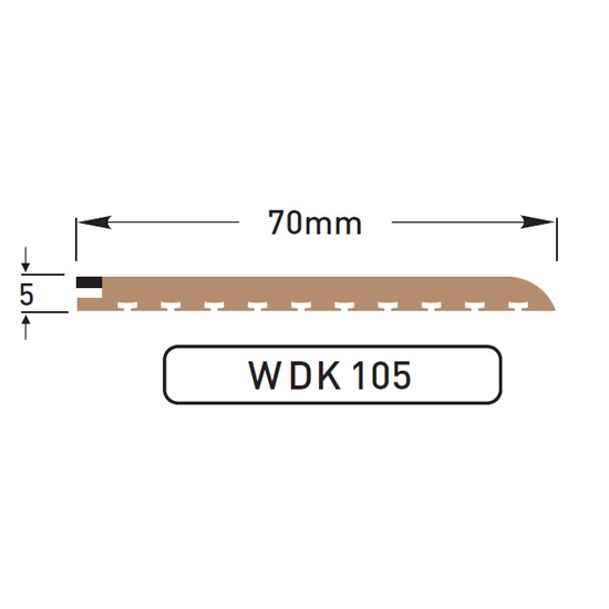 DEK-KING - 70mm Caulked margin - 10 mtr