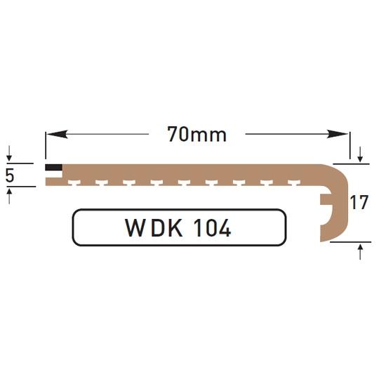 DEK-KING - 70mm L profil - 10 mtr