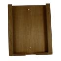 iPad holder teak, 20.4x2.5x24.4 cm