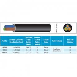 3 x 1,5 mm² 230V Kabel