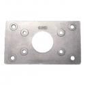 Rustfri forstærker plade t/11.4295