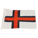 Flag færøerne 125cm. syet