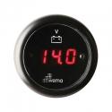 Wema Digital Voltmeter 12-24 Volt Sort