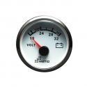 Wema Voltmeter 24 Volt Hvidt RF