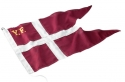 YF FLAG 65 cm. (34x65) broderet