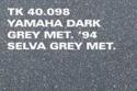 Spraymaling yamaha dark grey