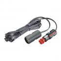 Universalstik 12/24V 4 mtr. kabel og udtag