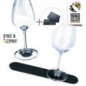 Metal liste for Silwy glas, sort 25 cm