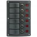 1852 elpanel med automat sikringer 6 kontakter