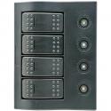 1852 elpanel med automat sikringer, led, 4 kontakter