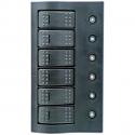 1852 elpanel med automat sikringer, led, 6 kontakter