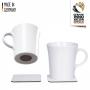 Silwy Kaffekop porcelæn med Nano gel pads - 2+2 stk