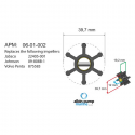Albin Pump Impeller Kit PN 06-01-002