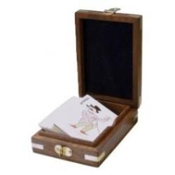 Delite Kortspil i træbox