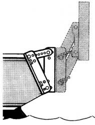 Trem Vinkel F/Påhængsmotorbeslag