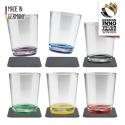 Silwy Drikkeglas med bordskånere - Multicolour 6 stk