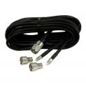 Shakespeare RG58 VHF kabel pakke 5 meter med 2 FME & 2 PL259